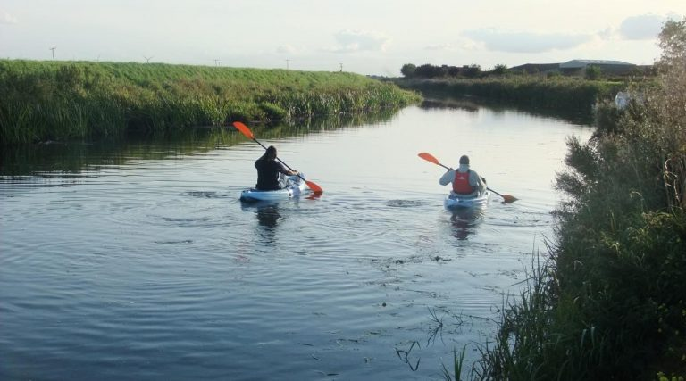 Kayaking or canoeing from our mooring between April and September