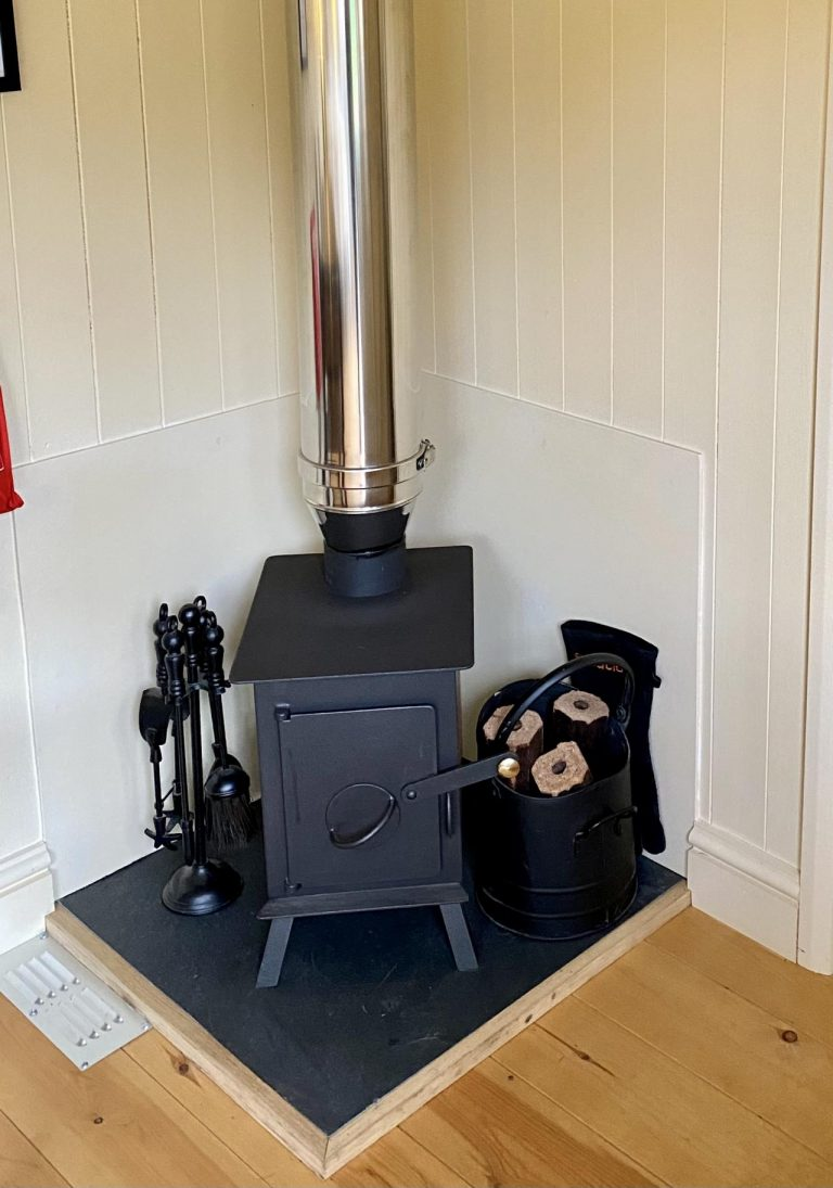Wood burning stove and there is electric heating too