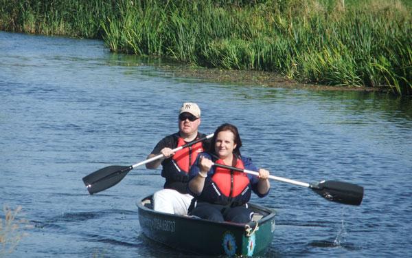 canoe hire in Fourwinds Leisure