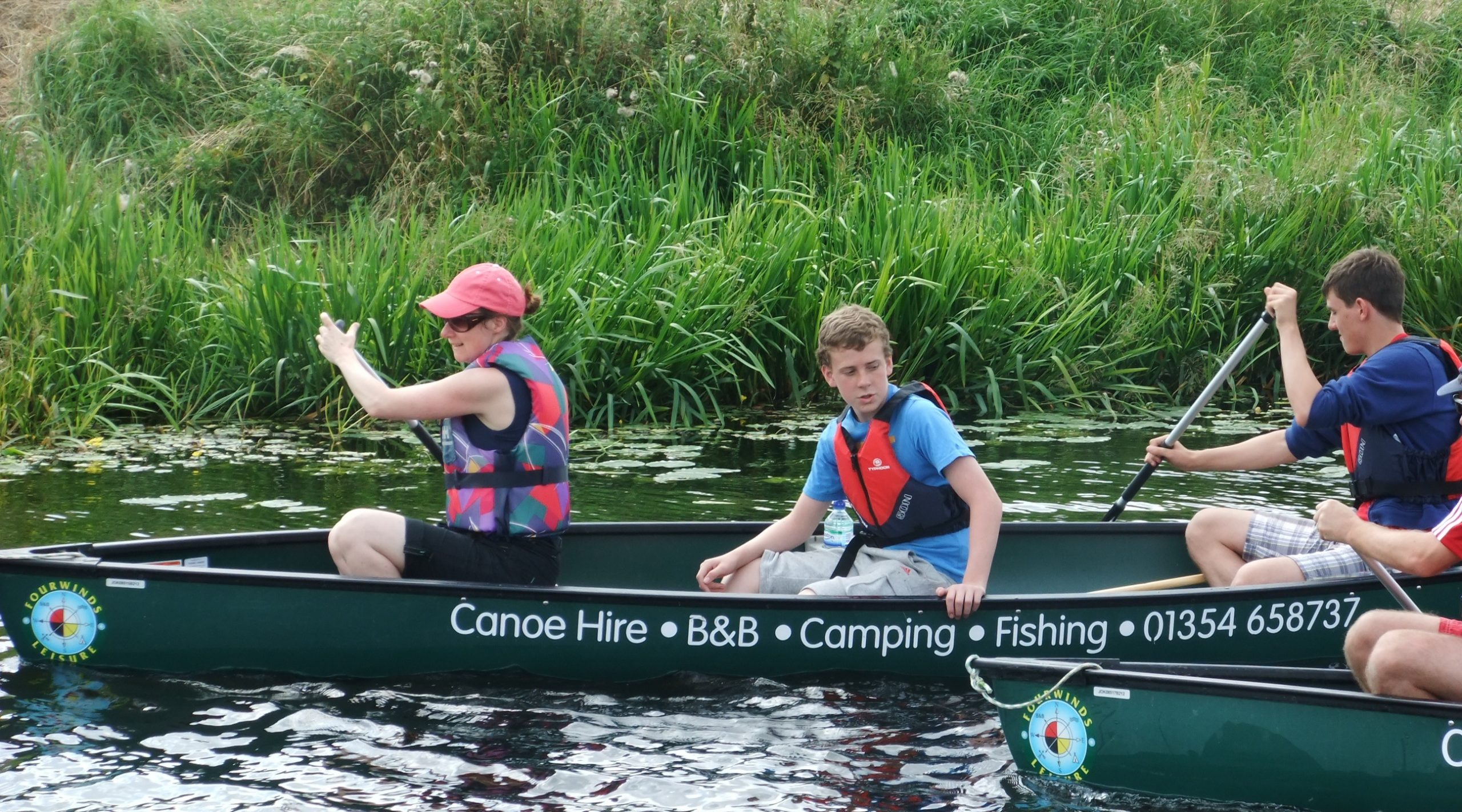 canoe hire in Cambridgeshire at Fourwinds Leisure